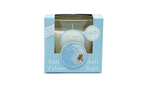 Ambientair Vela, Aroma de Anti Tabaco, Cera, Azul y Blanco, 12x12x12 cm