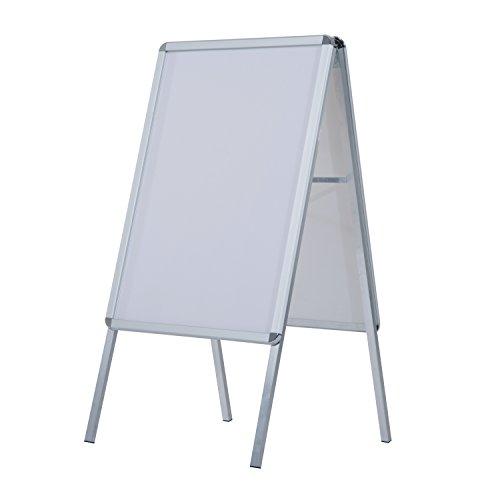 HomCom Panel Publicitario Doble Cara - Color Blanco