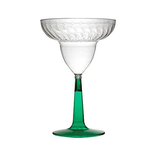 Flairware 'Margarita-Cocktail-Gläser aus Kunststoff, Hartschale, Green, 340, 340ml, 12Stück