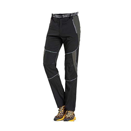SOLELING Uomo Pantaloni Asciugatura Rapida Foderati Soft-Shell Impermeabili  Caldi Ispessiti per Alpinismo Sci Escursioni e4be51405a0