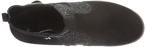 Waldläufer Havida, Bottes courtes avec doublure chaude femme Noir - Schwarz (Denver Black-Cross Schwarz)