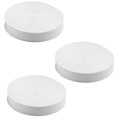 sourcingmap Haushalt Nylon Koffer Packung Fest Gurt Gurt Gurtband Weiß 3 Rolle