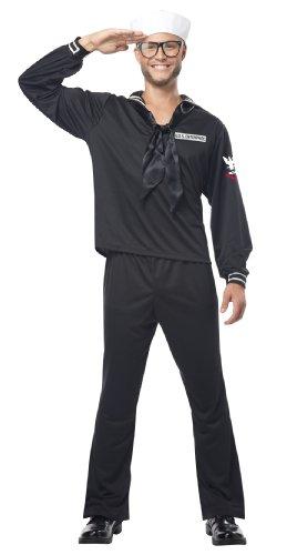 California Costumes Marineblau Erwachsene Kostüm Gr. Small, schwarz