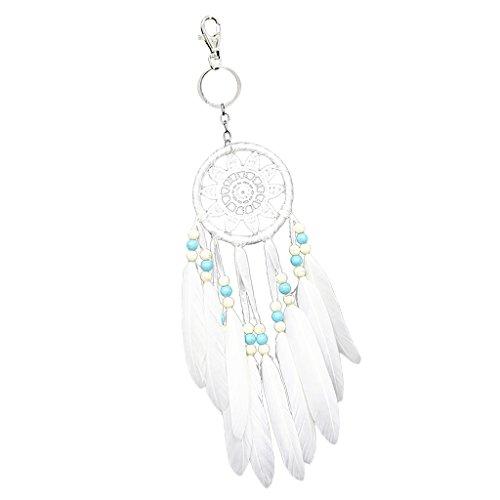 MagiDeal Schlüsselring Keychain Handtaschenanhänger Indianischer Feder Traumfänger Design Ornamente Geschenk