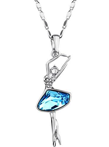 ❉Weihnachtsgeschenke❉ Swarovski Elements Halskette Kristall Silber