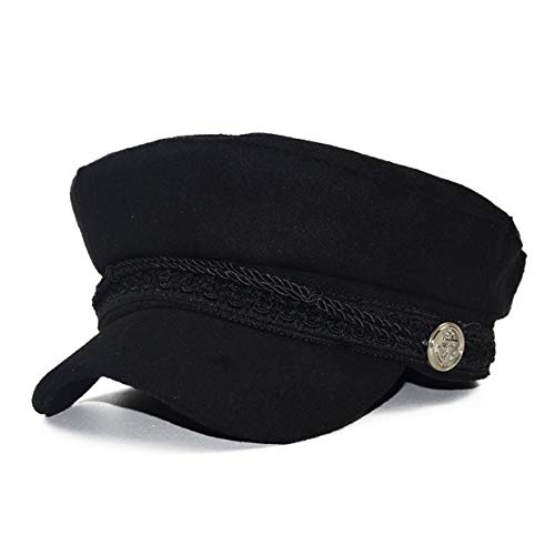 MXECO Fashion Solid Visor Sombrero Militar Otoño