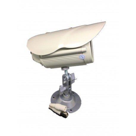 Cámara videovigilancia 700líneas con 1LED Array infrarrojo visión nocturna completa de prensatelas Color Blanco, Frente Blanca