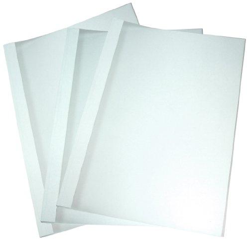 Genie 10493 Thermo-Bindemappen (DIN A4, Rückenbreite 6 mm, für circa 50 Blatt, in weiß strukturiert, Deckblatt satiniert) 10er Set matt (Genie 2022)