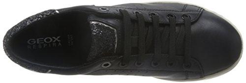 Geox Damen D Jaysen A Sneakers Schwarz (Blackc9999)