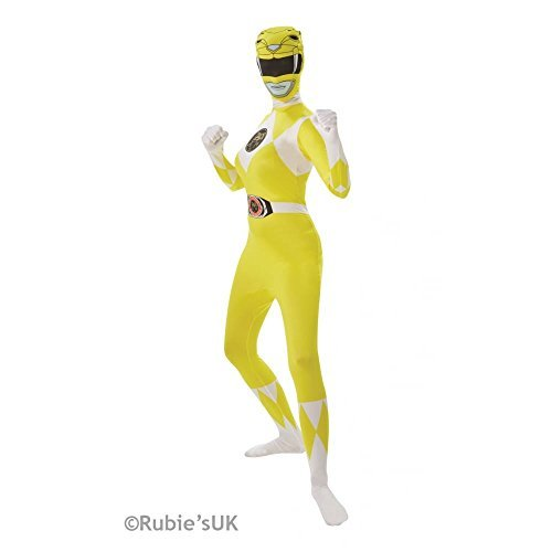 Power Kostüm Yellow Ranger - Zweite Haut Kostüm Power Rangers für Damen S