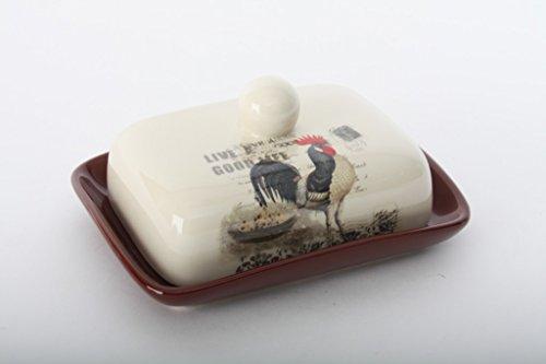 Beurrier Coq en céramique