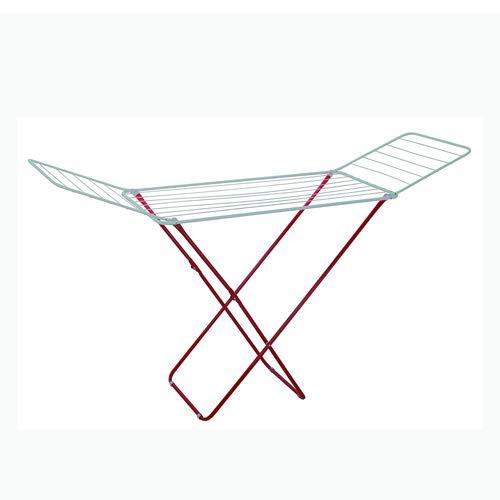 LEYENDAS Tendedero con alas de Acero. Color Rojo/Blanco. Dimensiones: 177 x 55.5 x 83.5cm