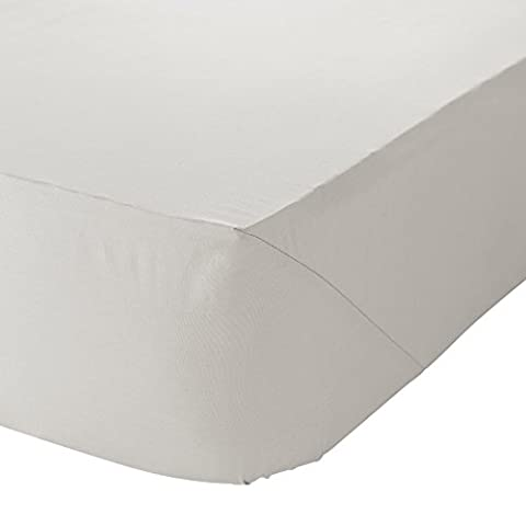 Catherine Lansfield Non Iron Percale Polycotton Single Fitted Sheet - Cream