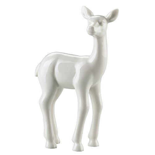 Hutschenreuther 02468-800001-24622 Märchenwald Porzellan-Figur Rehkitz stehend, Höhe 9 cm, weiß