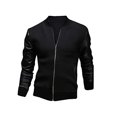 on sale aad93 7ae8f Yao PU Leather Long Sleeve Men Jacket Casual Winter Men Coats Male Outwear