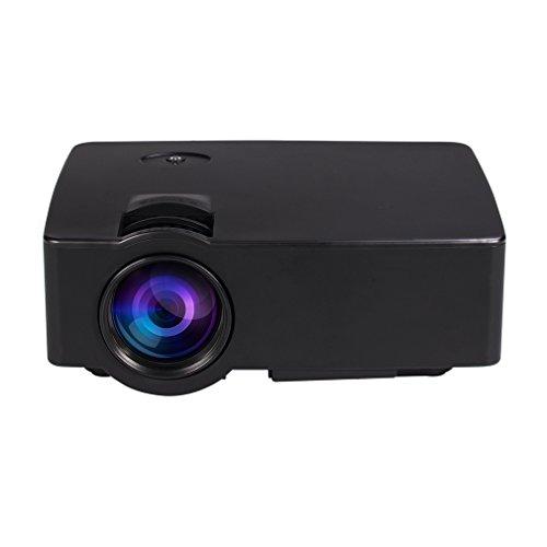 Led Beamer,LESHP Beweglicher Mini Projektor 1500 Lumen 800 x 480 Volles HD Video Heimkino IR Fernsteuerungs Verdrahteten Gleichen Schirm Smartphone projektor Led Projektor hd Beamer