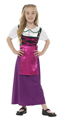 Smiffys Kinder Mädchen Bayrische Prinzessin Kostüm, Kleid mit Schürze, Alter: 12+ Jahre, ()