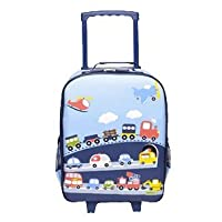 Bobble Art Carry On Suitcase On Wheels - Traffic Design. Ideal Cabin Luggage / Childrens hand Luggage Trolley Bag / Suitcase.