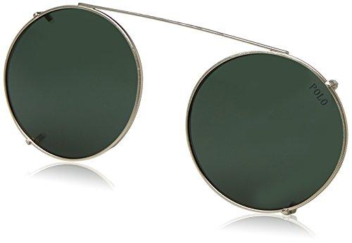 Polo Ralph Lauren Herren 0Ph1169C 932671 48 Sonnenbrille, Silber (Aged/Bottlegreen),