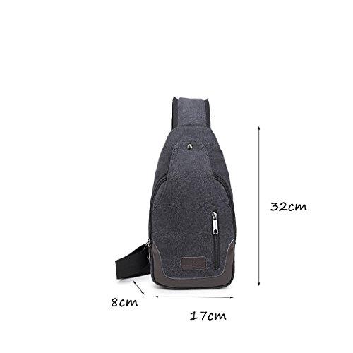 CLOTHES- Versione coreana della spalla trasversale trasversale della tela di canapa Sacchetto di cassa delluomo del sacchetto di viaggio di svago libero di modo ( Colore : Caffè scuro di colore ) Luce Colore Del Caffè