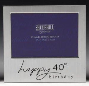 Happy 40th Birthday Photo Frame