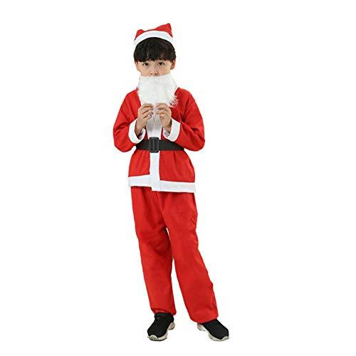 8Eninine 6-8 Jahre (Junge) Weihnachtskinderkleidung Set Kinder Jungen Mädchen Roter Weihnachtsmann Anzug - (Weihnachtsmann Anzüge)