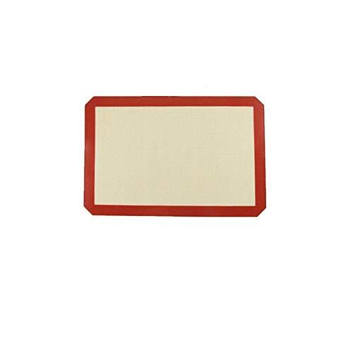 Backenwerkzeuge Silikon-Backmatten-Blattset-Ofenblech-Zwischenlagen Rollenmatte - Non-Stick-Cookie-Blätter Professional Grade 420 * 295 * 0,7mm rot Geschirr -
