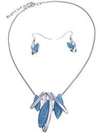 fant Zi – Collar Fantasía – Collar Resina Azul ...