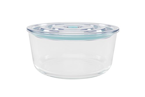 Click Clack Cook and Store Round Storage Container, 1.7 Quart, Teal by Click Clack