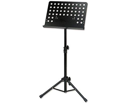 Betzold Musik 8868 - Notenständer schwarz, klappbar, Metallplatte, höhenverstellbar - Notenpult Orchesterpult
