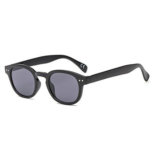 Suertree JH9014 Sonnenbrille, rund, Metall, Retro-Look, randlos