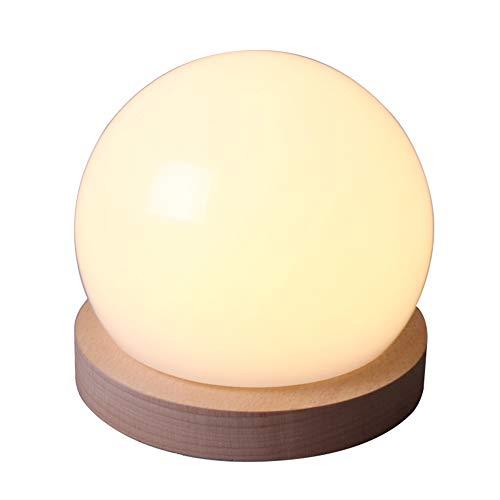 Runde Ball Licht Mit USB Lade Buche Basis Tisch Lampe LED Nacht Licht - Nacht Licht Tisch Lampe Basis