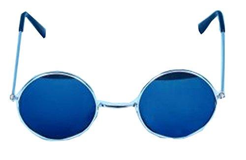 Sofias Closet Herren Sonnenbrille Schwarz Blue Lens Lennon