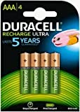 #10: Duracell AAA Rechargeable Ultra Type Batteries 850 mAh,, Pack of 4