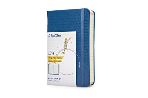 2014 Moleskine Petit Prince Limited Edition Blue Pocket Hard Daily Diary por Moleskine