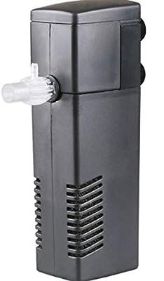 Nicepets® Filtre + Pompe recirculation d'eau Submersible pour Aquarium Mini ou Aquarium avec Poissons ou Tortues. Puissance : 550 l/h et 10 W.