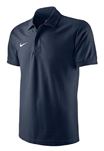 Nike Express Core Polo Homme Obsidienne Bleu/Blanc FR : M (Taille Fabricant : M)