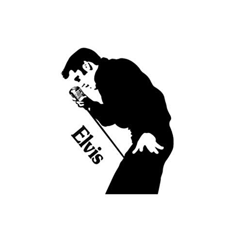 Wandaufkleber aus PVC Elvis Presley Wandtattoo Elvis The King Wandaufkleber Musik Zimmer Vinyl Dekor Rock & Roll Teen Home Livingroom Art Decor 71X89Cm (Dekor Teen Zimmer)