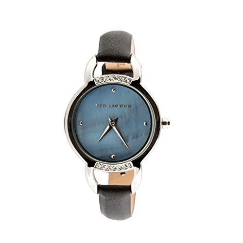 Ted Lapidus–a0636gnfn–Reloj Mujer–Cuarzo Analógico–Esfera Negra–Correa Piel Negro