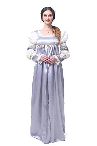Kleider Renaissance Gotischen (Nuoqi Damen klassisch viktorianisch Kleid Palace mittelalterliche kleider cosplay Kostüm Frauen Satin gotisch Maskerade Kleidung (XXL,)