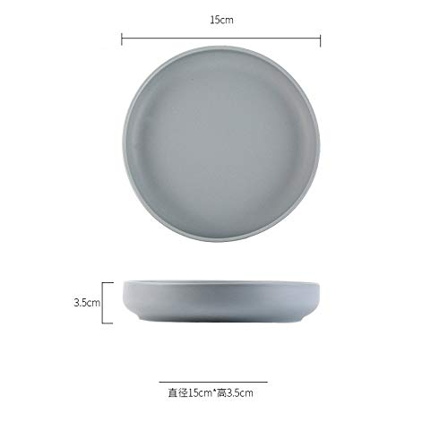 Kreatives Geschirr Nudelschüssel Europäische Salatschüssel Reisschüssel Keramik Nordic Kimchi Schüssel Schwarz Haushalt 6 Zoll Schüssel - Pappteller Grau Gelb Und