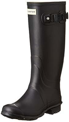 Hunter Womenâ€s Field Huntress Wellington Boot, Black, UK5