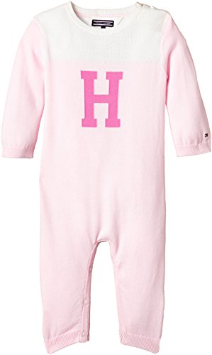 L/s Spieler (Tommy Hilfiger Baby-Mädchen ICON Knitted Coverall L/S Spieler, Rosa (Barely Pink 631), 68)