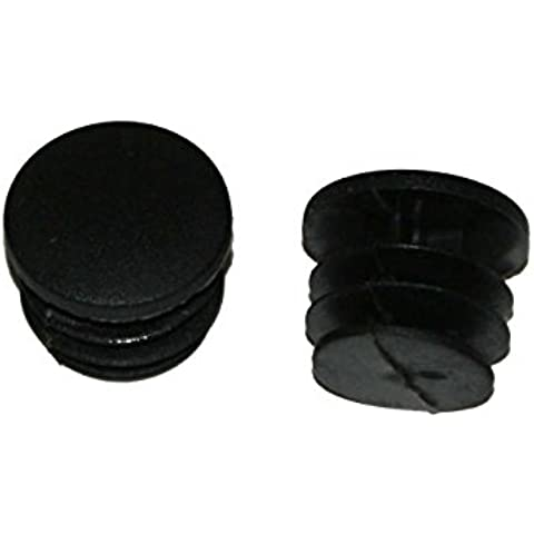 2 x D2O Bar End Plugs - Bike Handlebar Plastic End Caps - Black, & The Little Bike Shop Bookmark by The Little Bike Shop