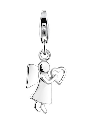 Elli Damen Schmuck Sterling-Silber 925 Clasp Charm Schutzengel Herz Himmel Liebe Freundschaft Engel