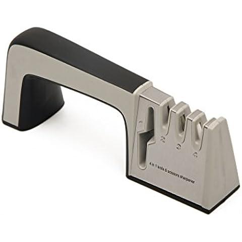 Cuchillo Afilador, afilador carburo de cocina profesional de mano cerámica para barra de sistema de afilado para cuchillos, tijeras negro
