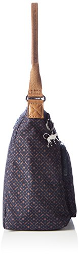 Kipling - Tasmo, Borse a spalla Donna Blu (Woven Blue Geo)
