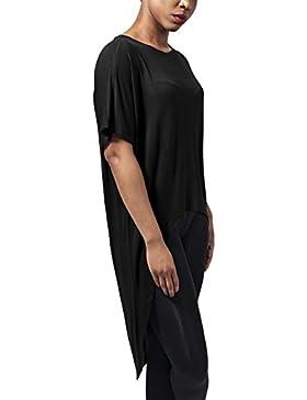 Urban Classics Ladies Viscose Oversized Hilo Tee, Camiseta para Mujer