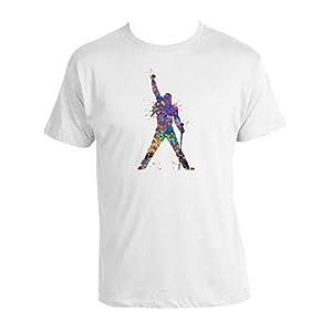 Freddie Mercury T-shirt Movie Freddie mercury 100% Baumwolle T-shirt Weiss Neu