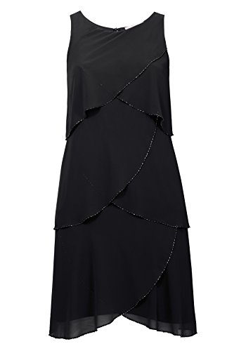 Sheego Kleid Cocktailkleid Knielang Party Club Abendkleid Schwarz 44